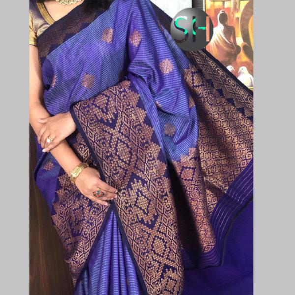 Banarasi-Silk--Dhupian-blue