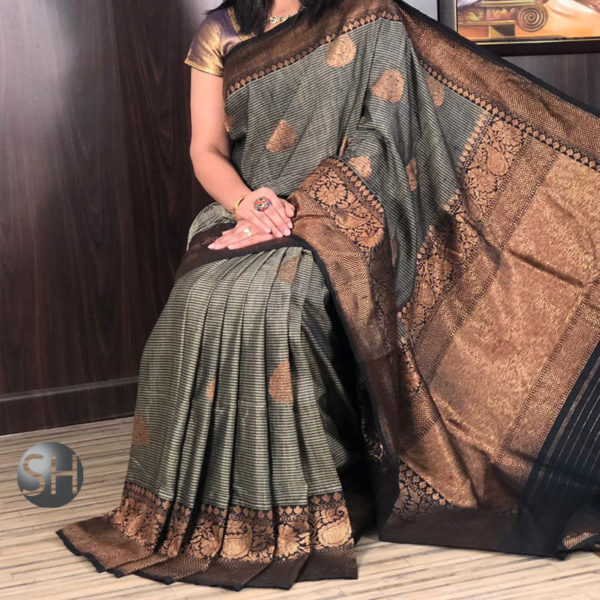 Banarasi-Silk--Dhupian-gray