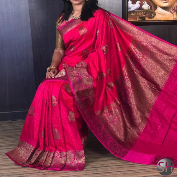 Banarasi-Silk--Dhupian-pink