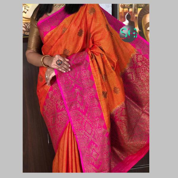 Banarasi-Silk--Dhupian yellow