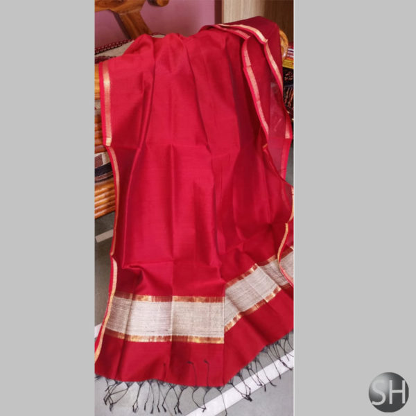 Maheshwari-jute-red