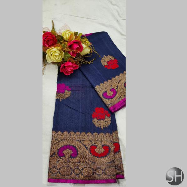Tussar--silk-saree