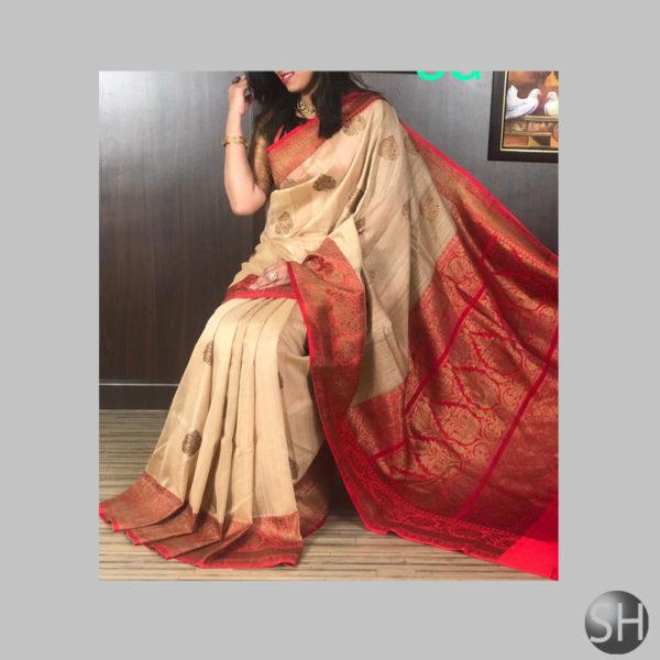 banarsi-saree brown