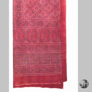 Ajrakh Prints Hand  Double Bed Bedsheet
