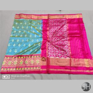 Pure Ikkat Silk Sarees with blouse #12