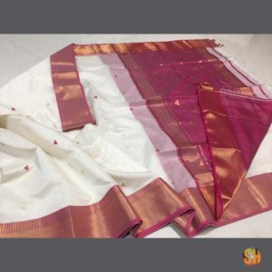 Maheshwari Triangle Buti Saree