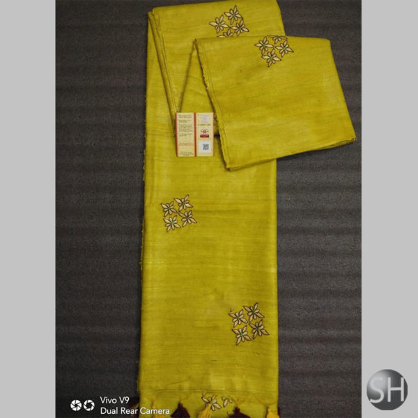 PURE TUSSAR WITH WORK EMBROIDERY 1