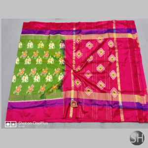 Pure Ikkat Silk Sarees with blouse #15