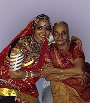 anubha with baa