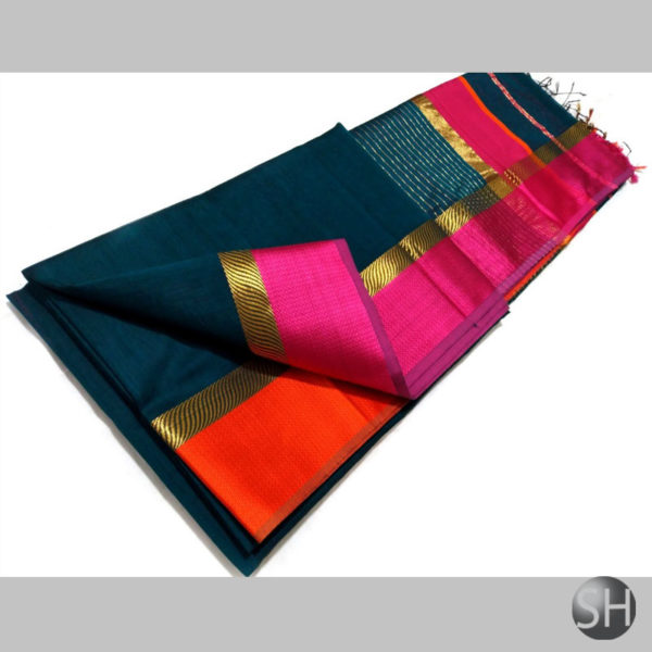 dark-blue-Maheshwari-silk-w