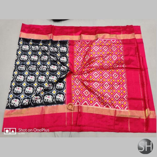 ikkat-silk-Sarees-with-blouse