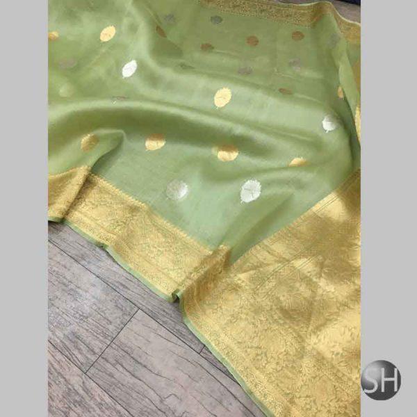 Banaras handloom kora Silk Kaduwa Sarees
