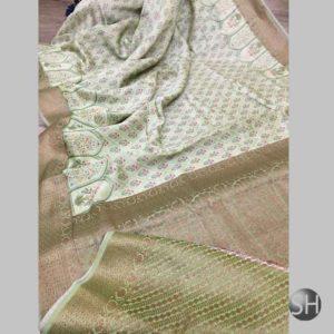 Latest  Banaras Handloom Pure Cotton Printed Sarees