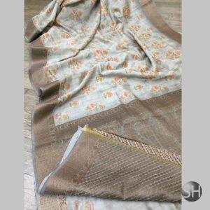 Banaras handloom Pure Cotton Digital Print Saree