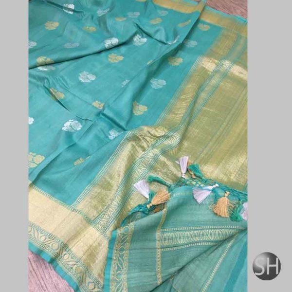 Banaras khaddi Tussar Silk Sarees