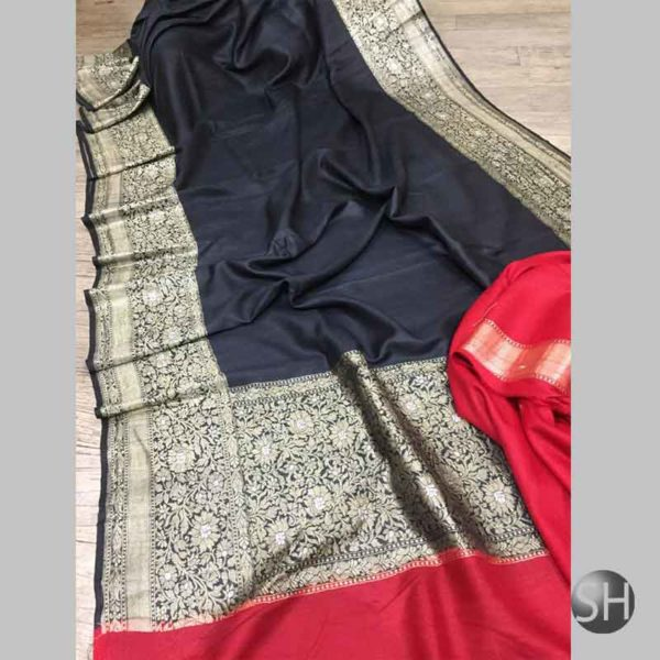 Banaras khaddi Tussar Georgette Sarees