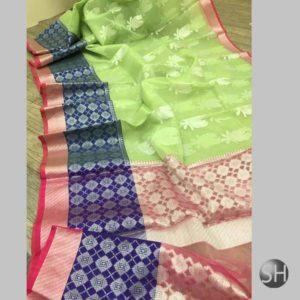 Banaras Soft kora Silk Sarees