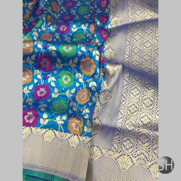 Banaras handloom katan silk tilffi Sarees