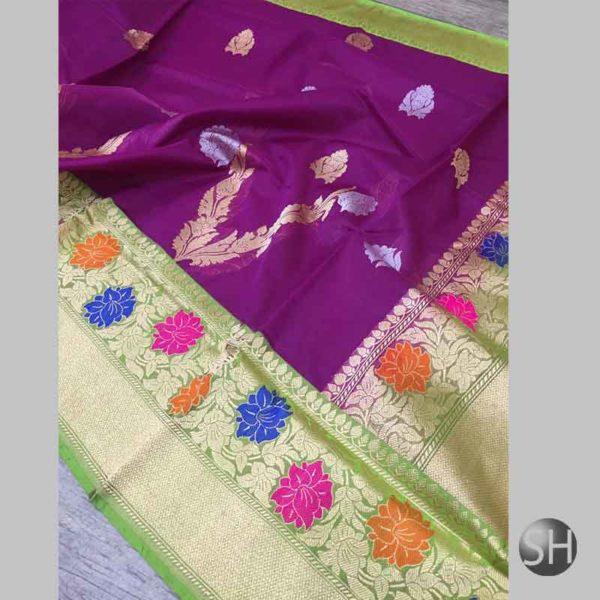Banaras handloom kora Silk