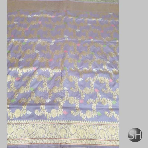 Banaras handloom katan Silk kaduwa Jangla Saree