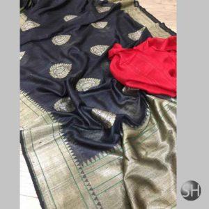 Banaras handloom katan silk Sona Rupa kaduwa Saree