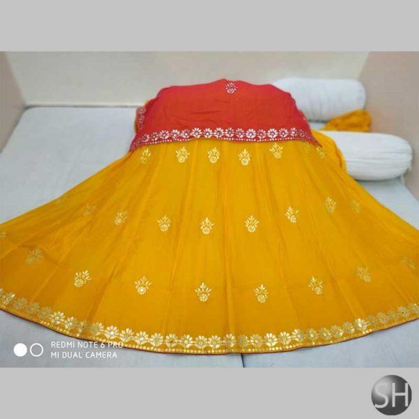 Simple-rajasthan-gottapatti-work-yellow