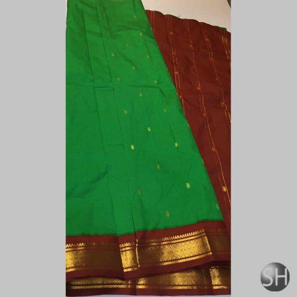 silk-saree-green