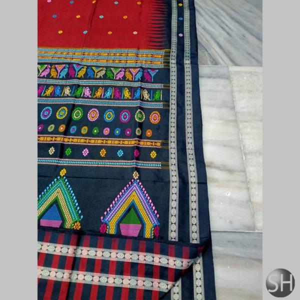 Ikkat-Bomkai-Silk-Saree-dred5