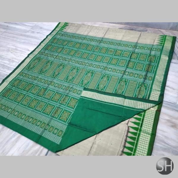 Ikkat-Bomkai-Silk-Saree-green1