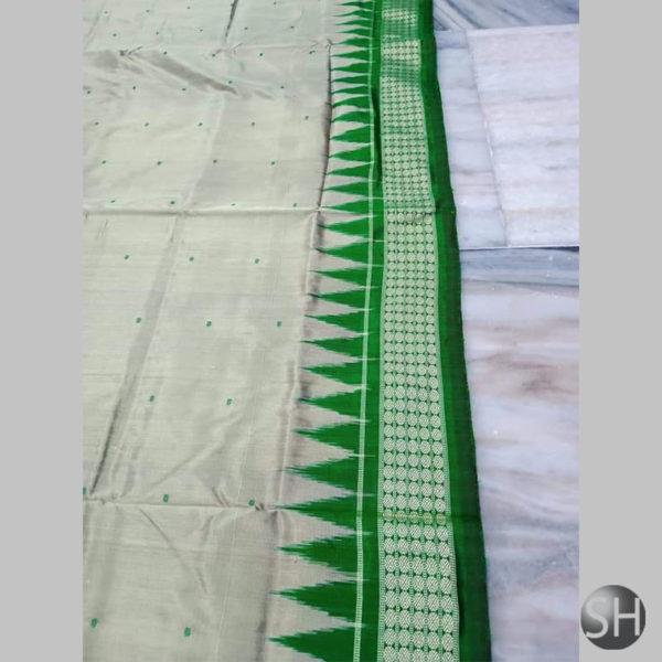 Ikkat-Bomkai-Silk-Saree-green3