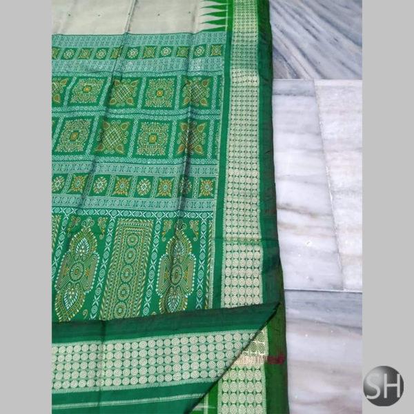 Ikkat-Bomkai-Silk-Saree-green4