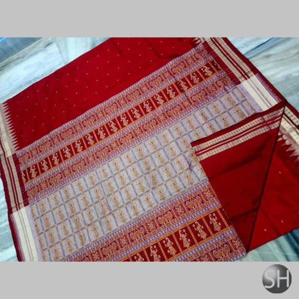 Ikkat-Bomkai-Silk-Saree-red1