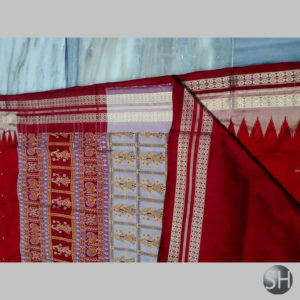 Ikkat Bomkai Silk Sarees #1
