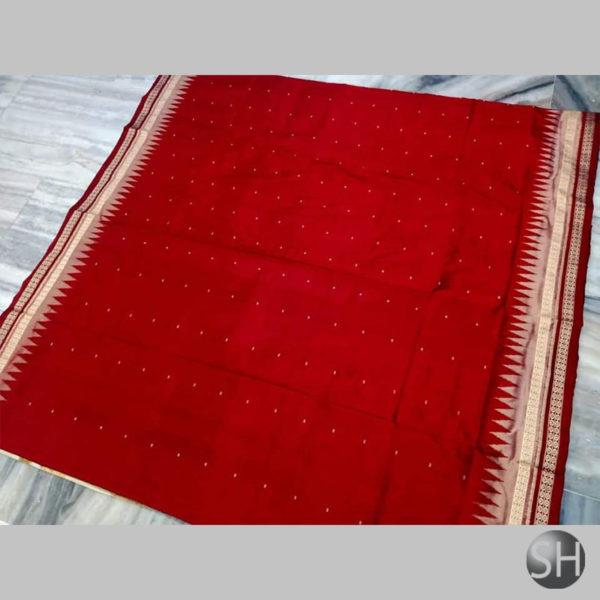 Ikkat-Bomkai-Silk-Saree-red5