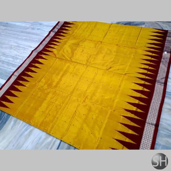 Ikkat-Bomkai-Silk-Saree-yellow3