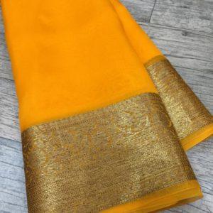 Banaras Handloom Semi Katan Silk Tilffi Sarees #5