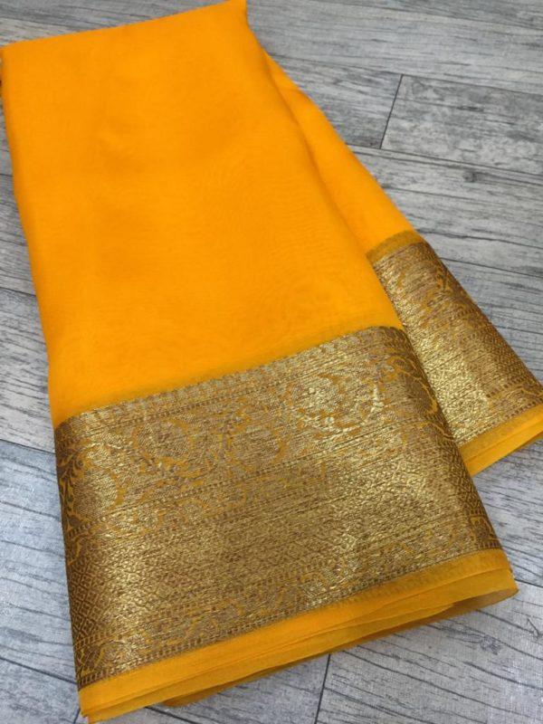 Banaras handloom semi Katan Silk Tilffi Sarees