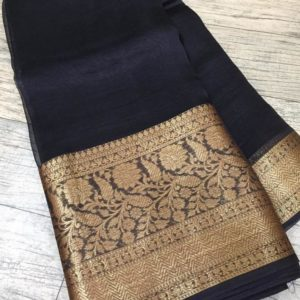 Banaras Handloom Semi Katan Silk Tilffi Sarees #8