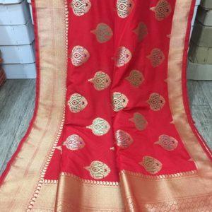 Banaras Handloom Semi Katan Silk Tilffi Sarees #9