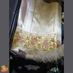 Banaras Handloom Tissue Silk Paithani Border Saree