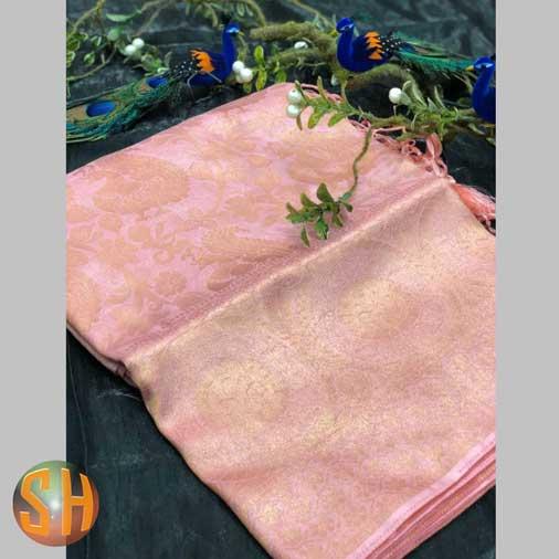 Banarasi Silk Saree with Pure Golden Jari Yarn
