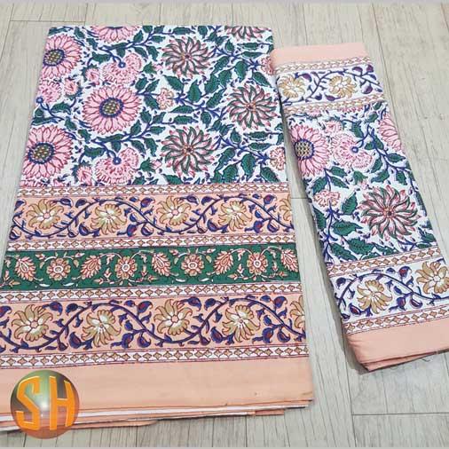 Hand-block-printed-bedsheets