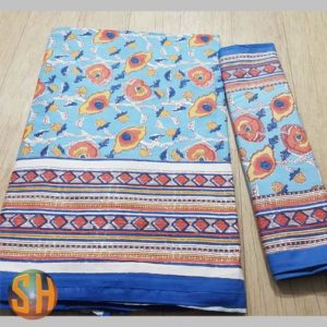 Exclusive Hand block printed Bed-sheets with two pillow covers -#2