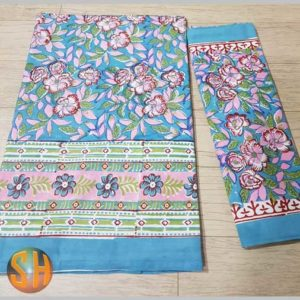 Exclusive Hand block printed Bed-sheets with two pillow covers