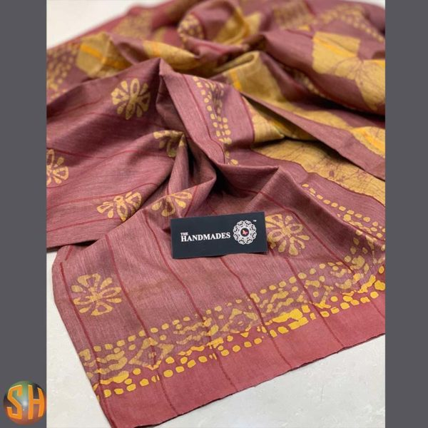 Traditional Digital Printed Tussar Sarees