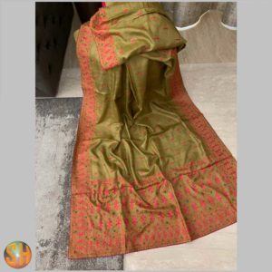 Pure Kani Silk Sarees – Tussar with Embroidery