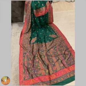 Pure Kani Silk Sarees – Tussar with Embroidery #16