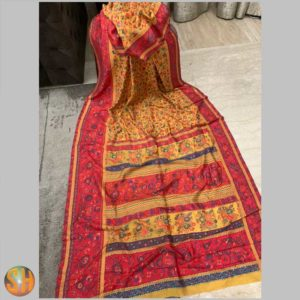 Pure Kani Silk Sarees – Tussar with Embroidery #19