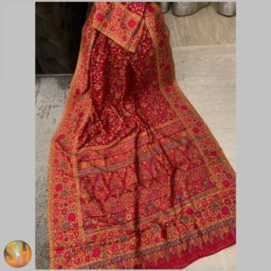 Pure Kani Silk Sarees – Tussar with Embroidery #20