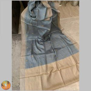 Pure Kani Silk Sarees – Tussar with Embroidery #4